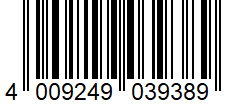 Código de barras: Pan integral de centeno Hacendado