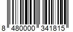 Código de barras: Ajo granulado Hacendado